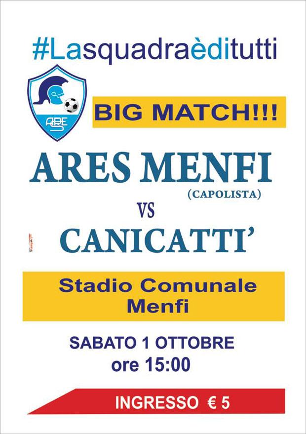 Ares Menfi, domani il big match contro il forte Canicattì