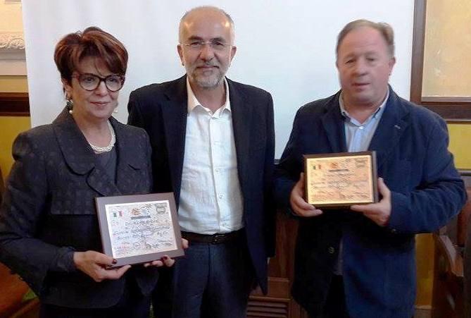 Al Sindaco di Agira On Maria Greco il riconoscimento di Custode dell'Identità Territoriale