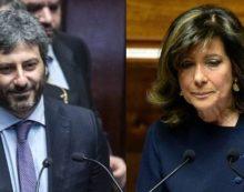 Casellati e Fico sono i nuovi presidenti di Senato e Camera