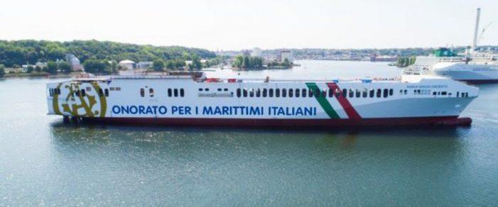 """Trasporti, arrivata a Catania nave cargo Onorato. Musumeci: """"Sicilia torni cuore del Mediterraneo"""""""