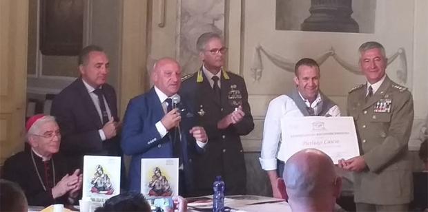Pierluigi Cascio (Villa Plasi) omaggiato presso il Palazzo Arcivescovile di Monreale