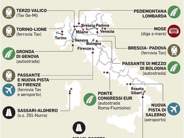 Infrastrutture, in arrivo 9 miliardi per grandi cantieri: governo lascia fuori la Sicilia