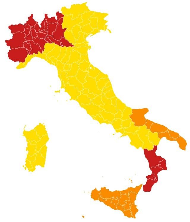 """Sicilia zona arancione: da venerdì chiusi bar e ristoranti. Musumeci attacca il governo: """"decisione irragionevole"""""""