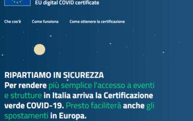 Green pass europeo: attivo dal 1 luglio il certificato verde vaccinale